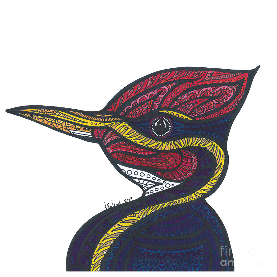 900x900 Woodpecker Drawing