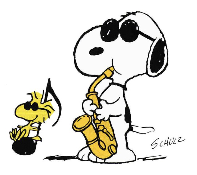 639x570 Snoopy Sax The Musical In Snoopy And Woodstock Lauren Kees