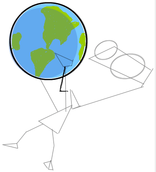 318x351 How To Draw Zim From Invader Zim With World In His Hands Step