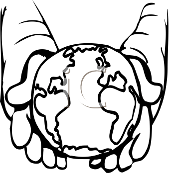 339x350 World In Hands Clipart