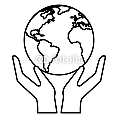 400x400 Hands With World Planet Vector Illustration Design Buy Photos