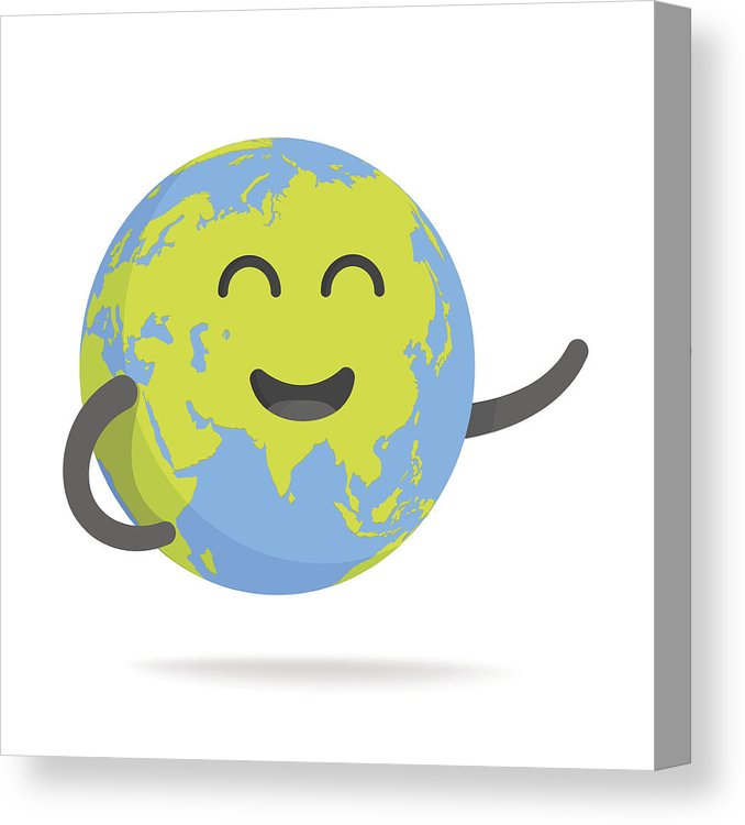 678x750 Cute Cartoon Earth Character World Map Globe With Smiley Face