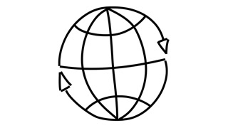 320x180 World Map In Lines Motion Background