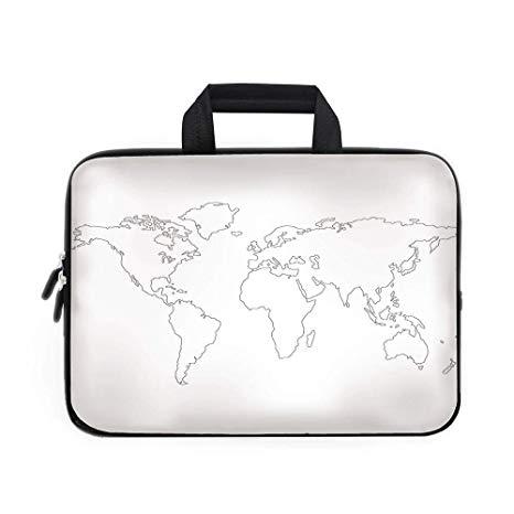 466x466 Map Laptop Carrying Bag Sleeve,neoprene Sleeve Case