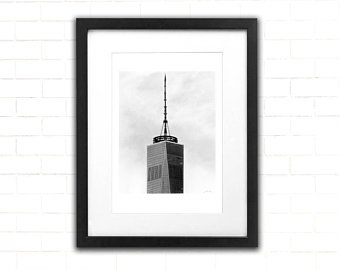 340x270 One World Trade Center Art Print Architecture Pencil Etsy