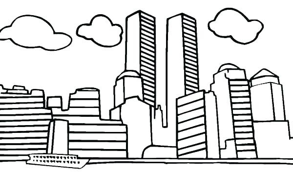 600x395 World Trade Center Coloring Sheets