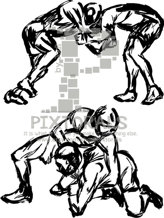 570x758 Wrestlers Vector! Wrestlers As Png