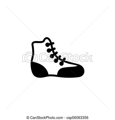 450x470 Boxing Shoe Wrestling Boot Flat Vector Icon Boxing Shoe