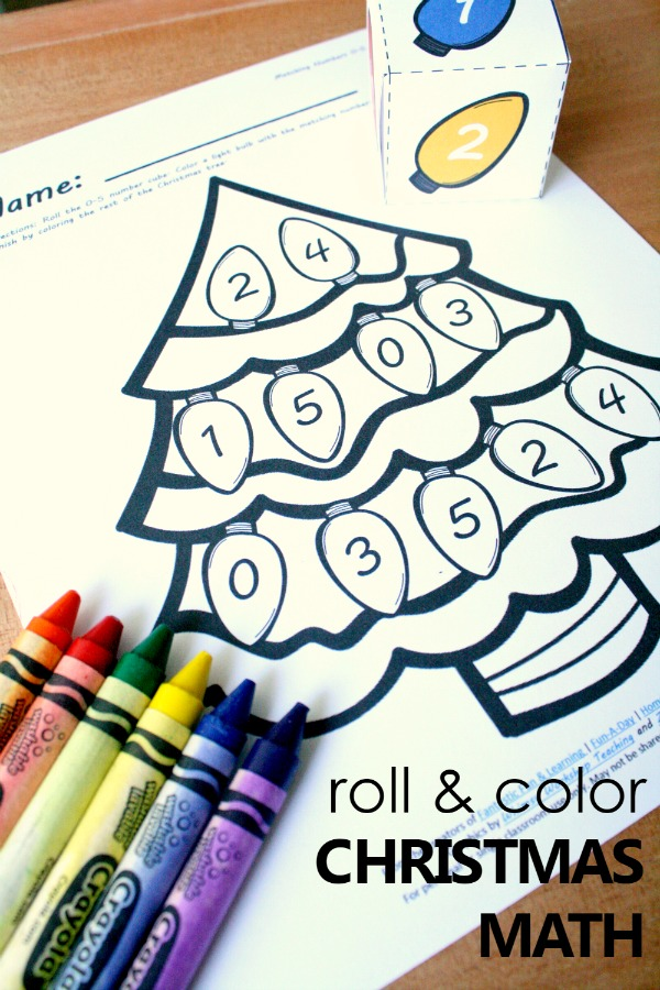 600x900 Free Printable Christmas Tree Number Matching Math Activity