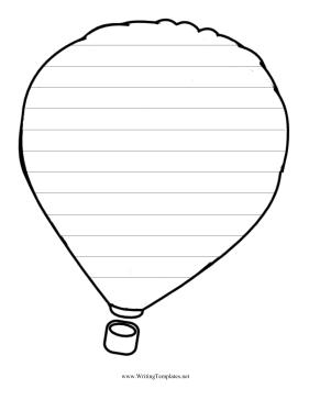 281x364 Hot Air Balloon Writing Template Writing Template, Free