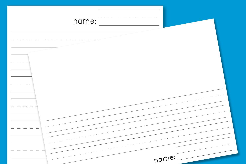 1500x1000 Kindergarten Lined Paper