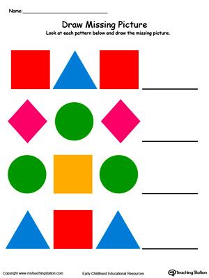 300x400 Kindergarten Patterns Printable Worksheets