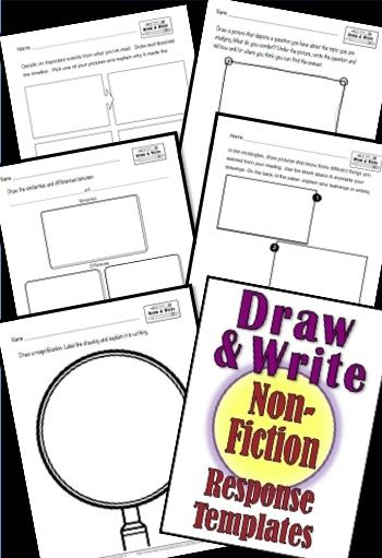 350x511 Printables Response To Non Fiction Draw And Write Tpt Misc