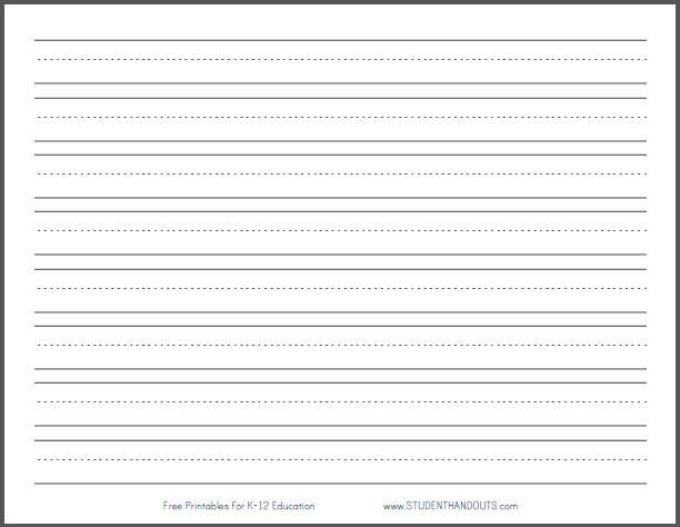 612x474 Writing Template Student Paper With Space For A Picture And No