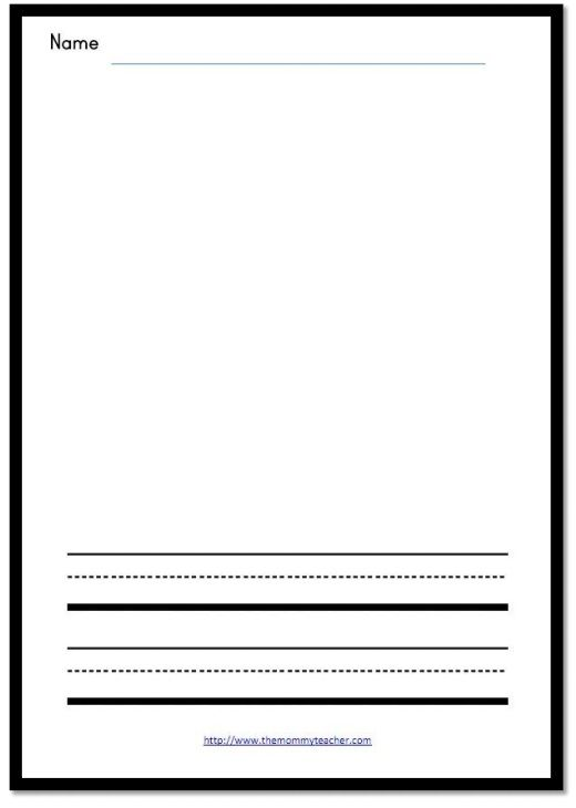 520x730 Writing Template The Mommy Teacher Preschool Writing