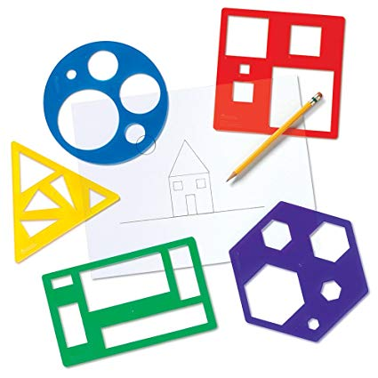 425x425 Learning Resources Primary Shapes Template Set Toys