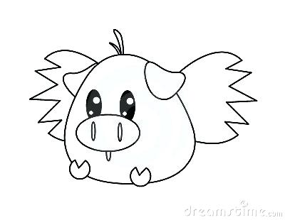 400x310 Easy Pig To Draw How To Draw A Pig Easy Pig Drawing Face
