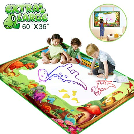 466x466 Betheaces Water Doodle Drawing Mat,dinosaur Play Mats