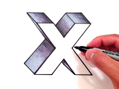 480x360 How To Draw The Letter X