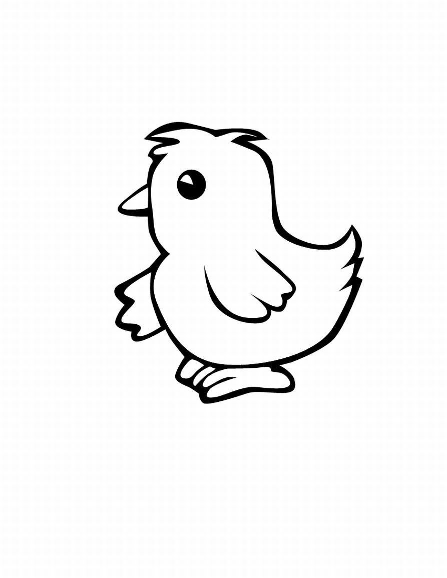 893x1155 Chick Clipart Draw Baby