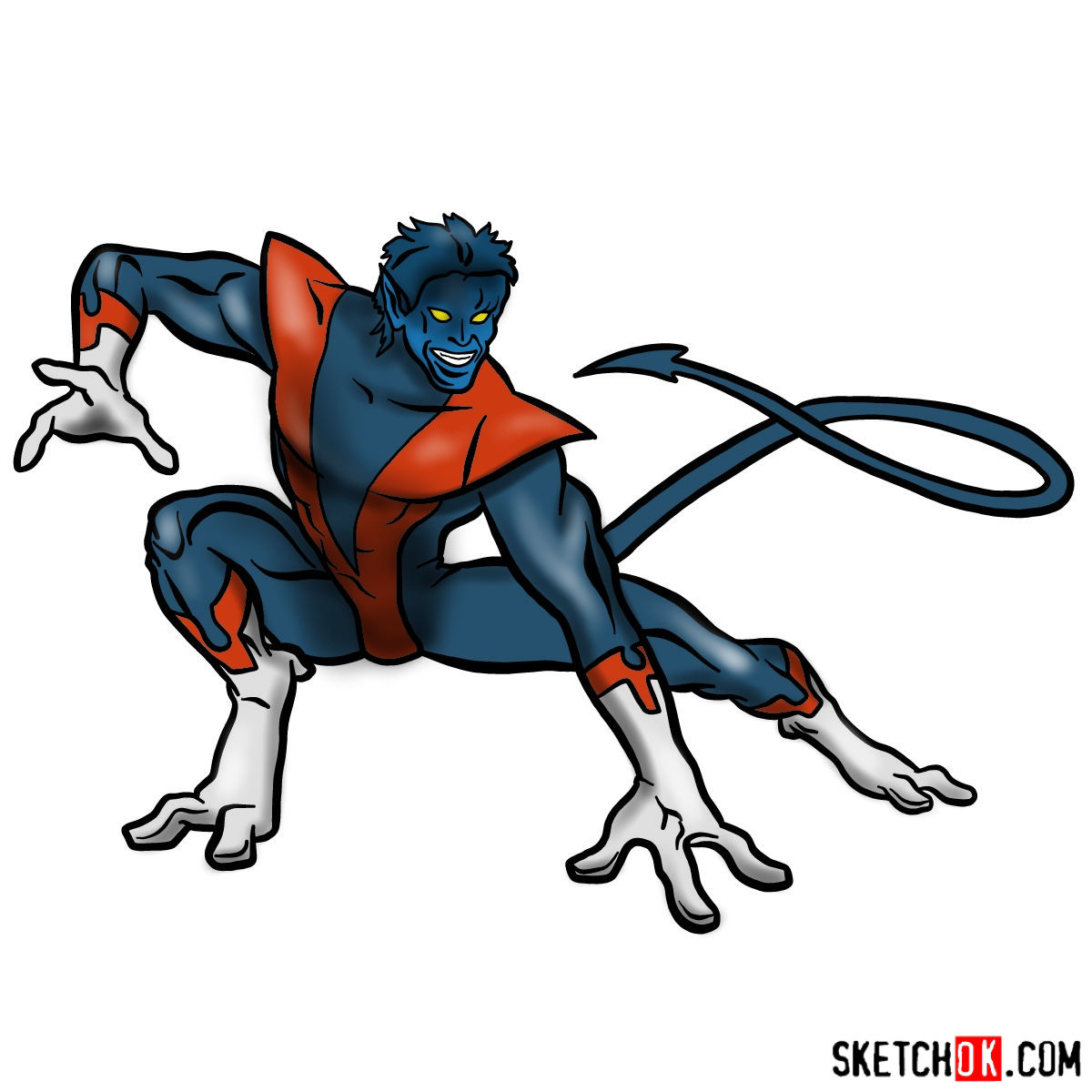 1200x1200 How To Draw Nightcrawler From X Men Series