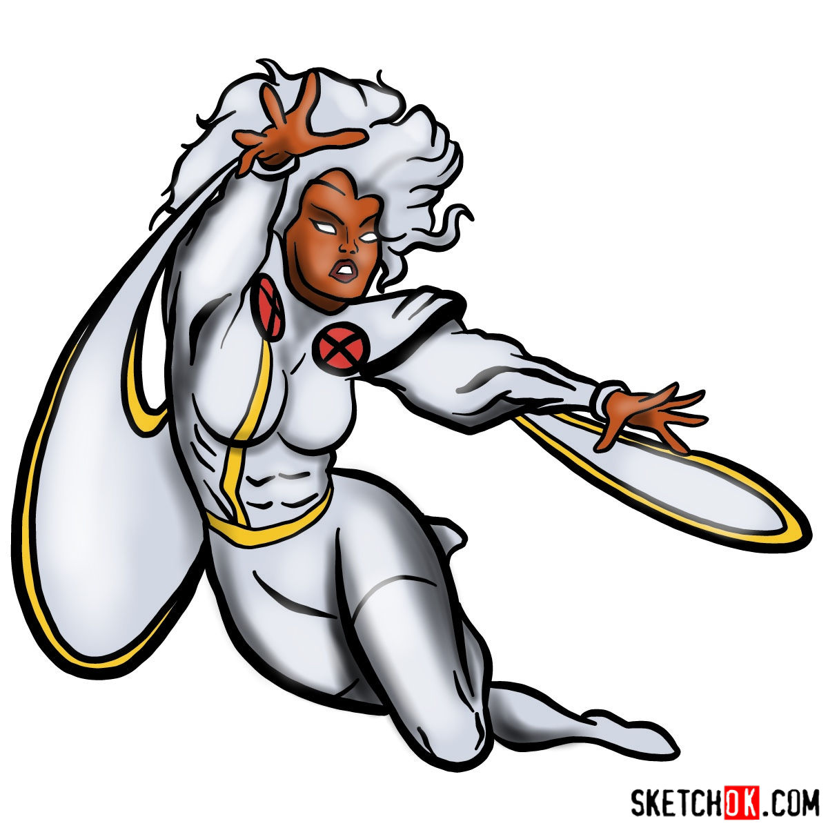 1200x1200 How To Draw Ororo Munroe