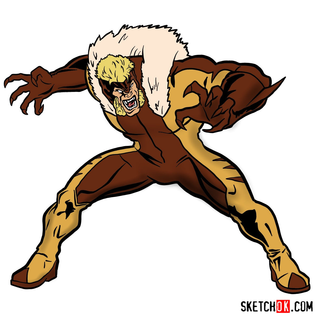 1200x1200 How To Draw Sabretooth