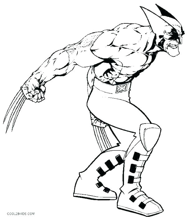 600x702 Wolverine Colouring In Wolverine Colouring Wolverine Coloring