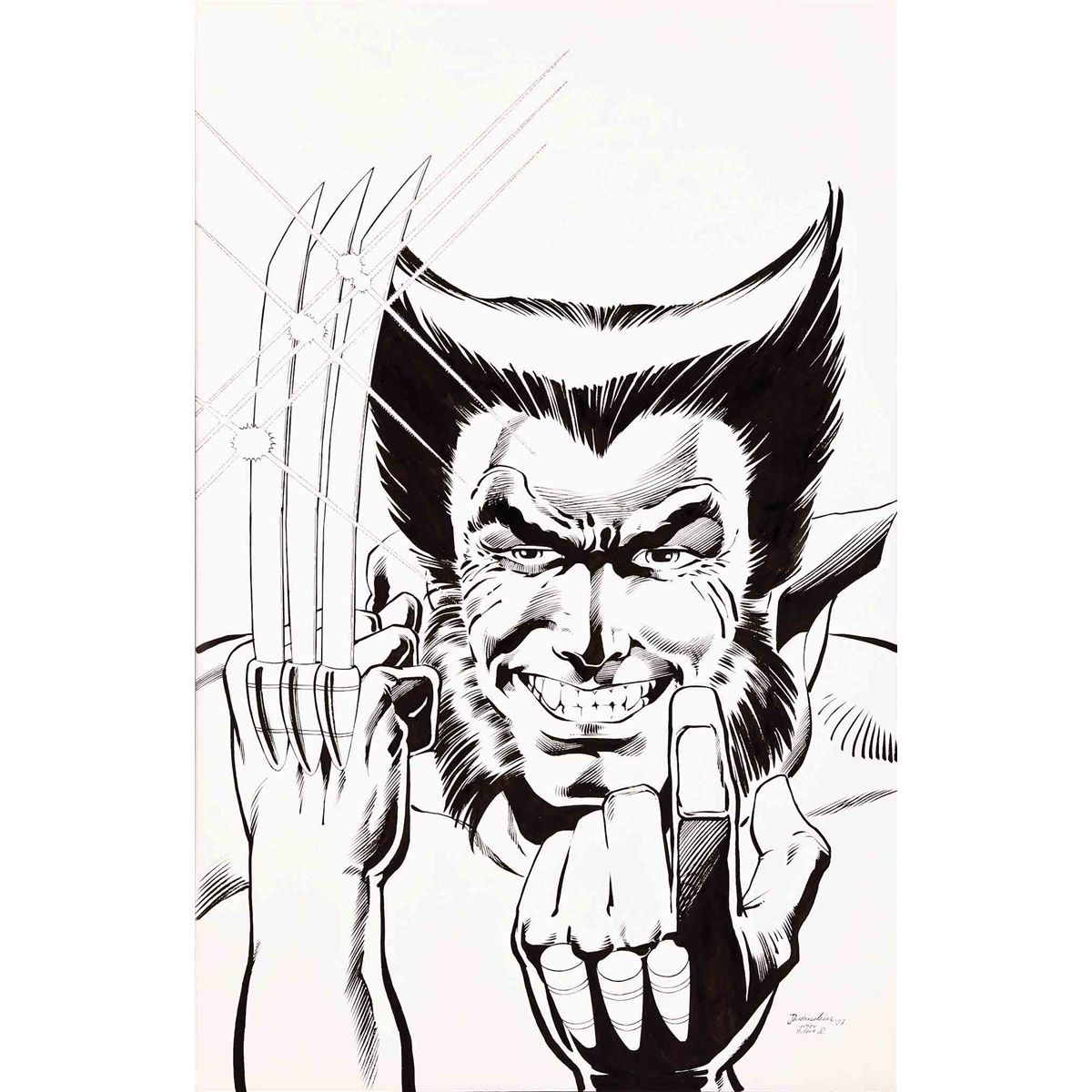 1200x1200 Josef Rubinstein Original Drawing Of Wolverine From X Men