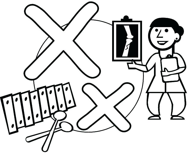 736x602 Letter X Coloring Pages Preschool Coloring Pages For Kindergarten