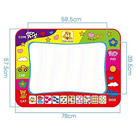 466x466 Mat, Large Magic Water Drawing Painting Writing Mat Pad Board