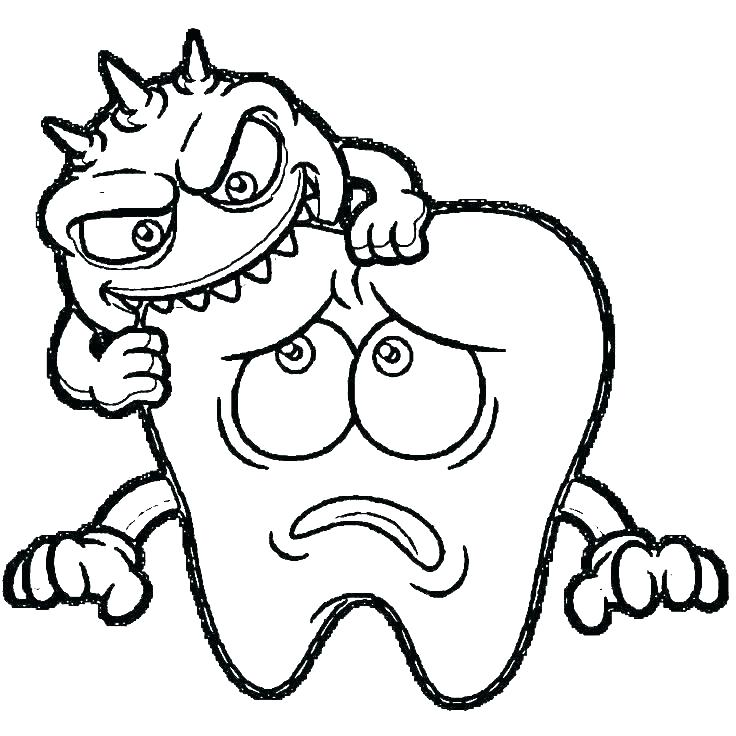 736x736 Dental Health Coloring Pages