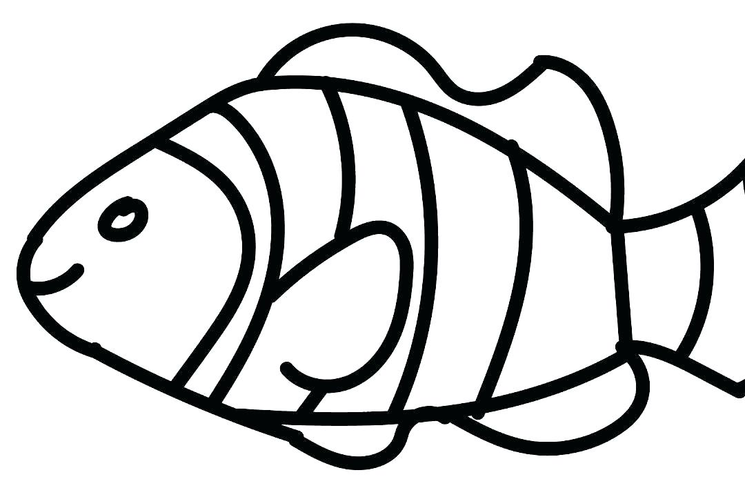 1080x720 Fish Coloring Pages For Preschool