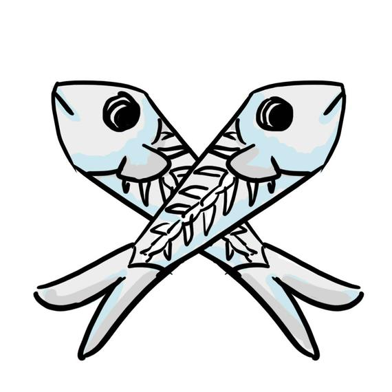 570x570 x cookie cutter x ray fish etsy