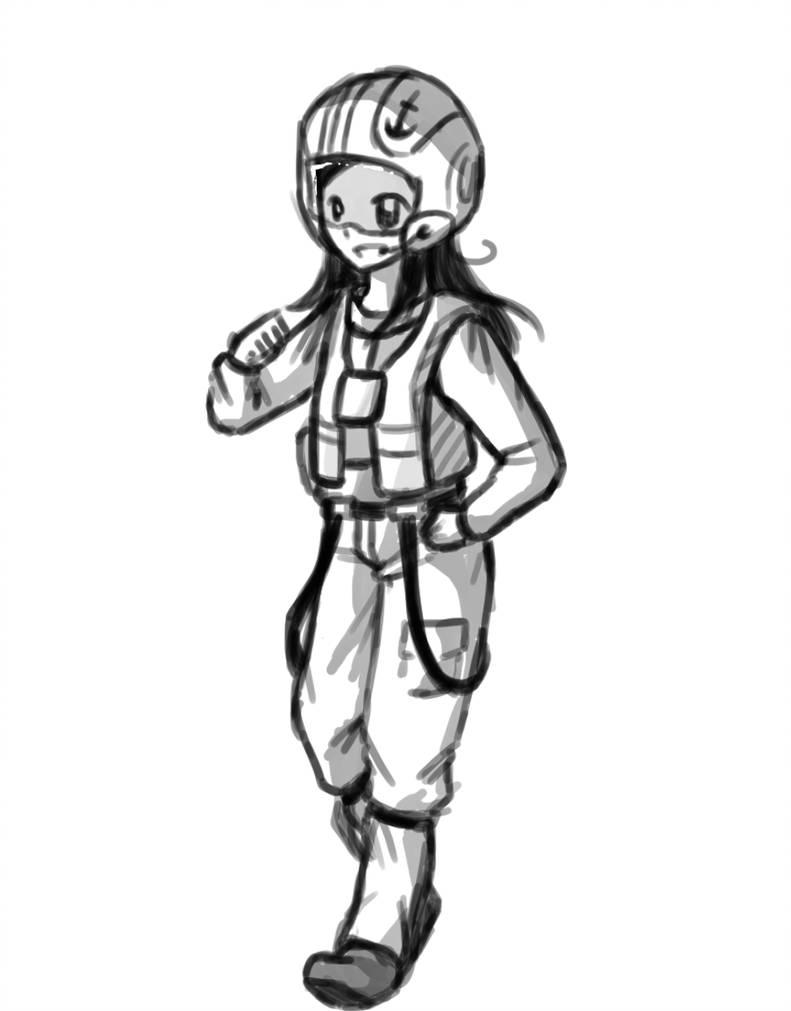 791x1011 January, X Wing Pilot Sketch