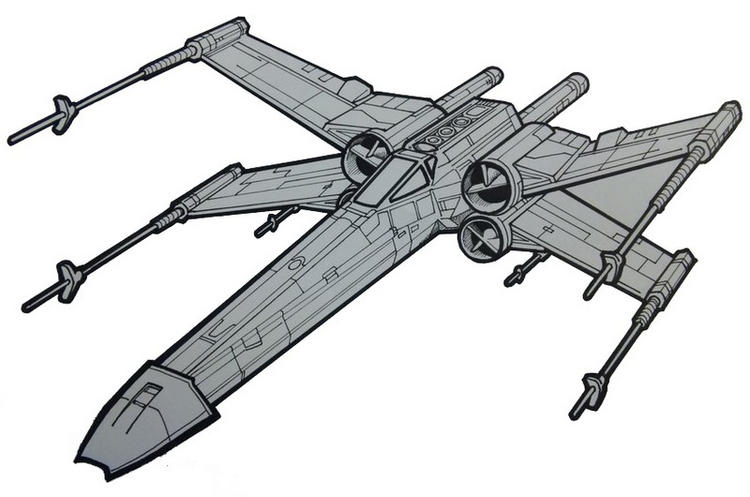 750x497 Revell X Wing Fighter Star Wars Coloring Picture
