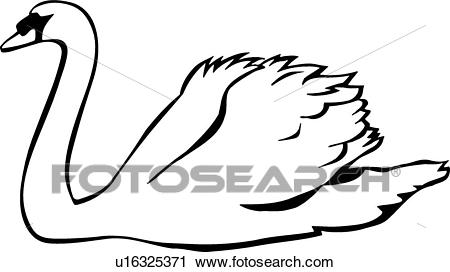 450x272 Swan Clipart Line Drawing