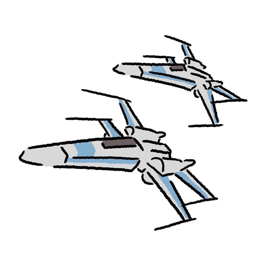 1080x1080 X Wing Fighter