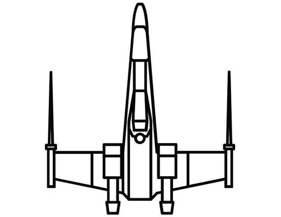 570x440 X Wing Top Decal Star Wars Themed Decal Etsy