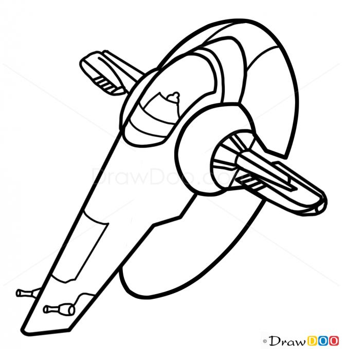 665x680 Millennium Falcon Drawing