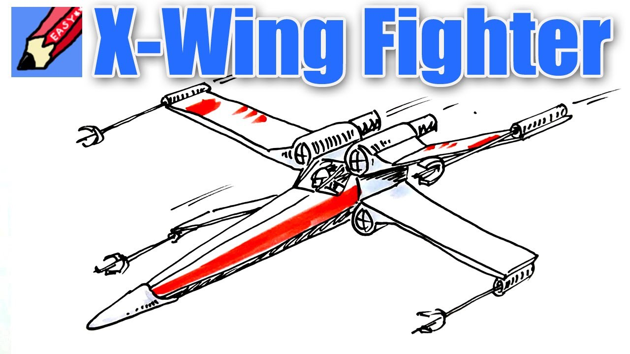 1280x720 Draw A Star Wars X Wing Fighter Real Easy