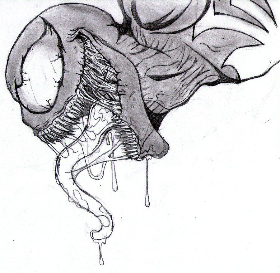 900x875 venom sketch drawing and venom drawings venom xenomorph