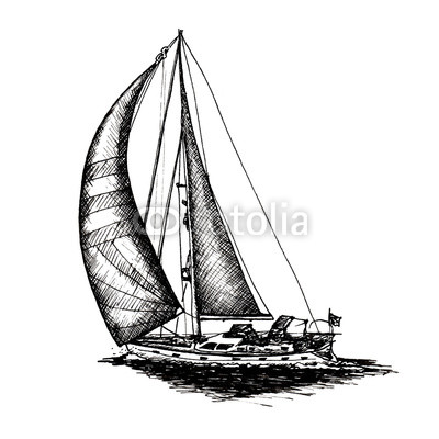 400x400 ship sailing yacht boat antique vintage antique black ink hand