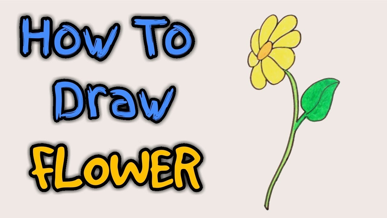 1280x720 how to draw flower flower how to draw yellow flower