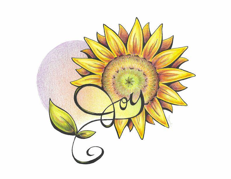 792x612 inspirational flower sunflower inspirational art, colored pencil