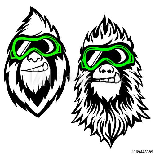 500x500 Funny Bearded Yeti Logo