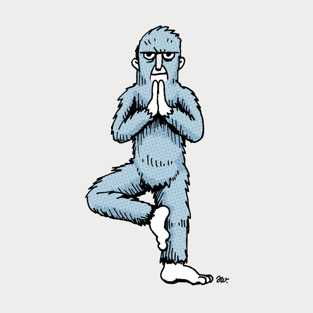 1080x1080 My Friend Wanted Me To Draw A Yeti In Different Yoga Poses