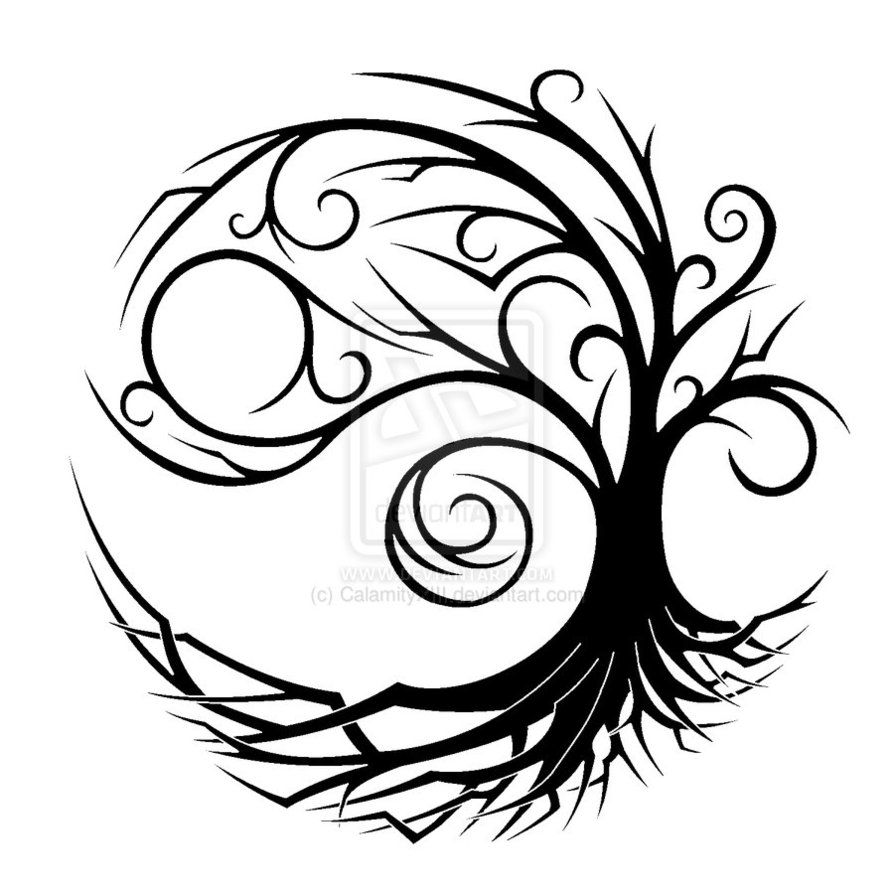 894x894 yin yang tree tattoo tribal yin yang tree tattoo design ink