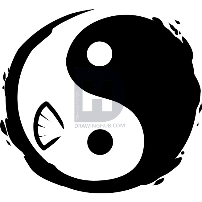 655x655 how to draw a yin yang tattoo, yin yang tattoo, step