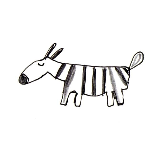680x680 Easy Zebra Drawing Easy Cartoon Zebra Drawing